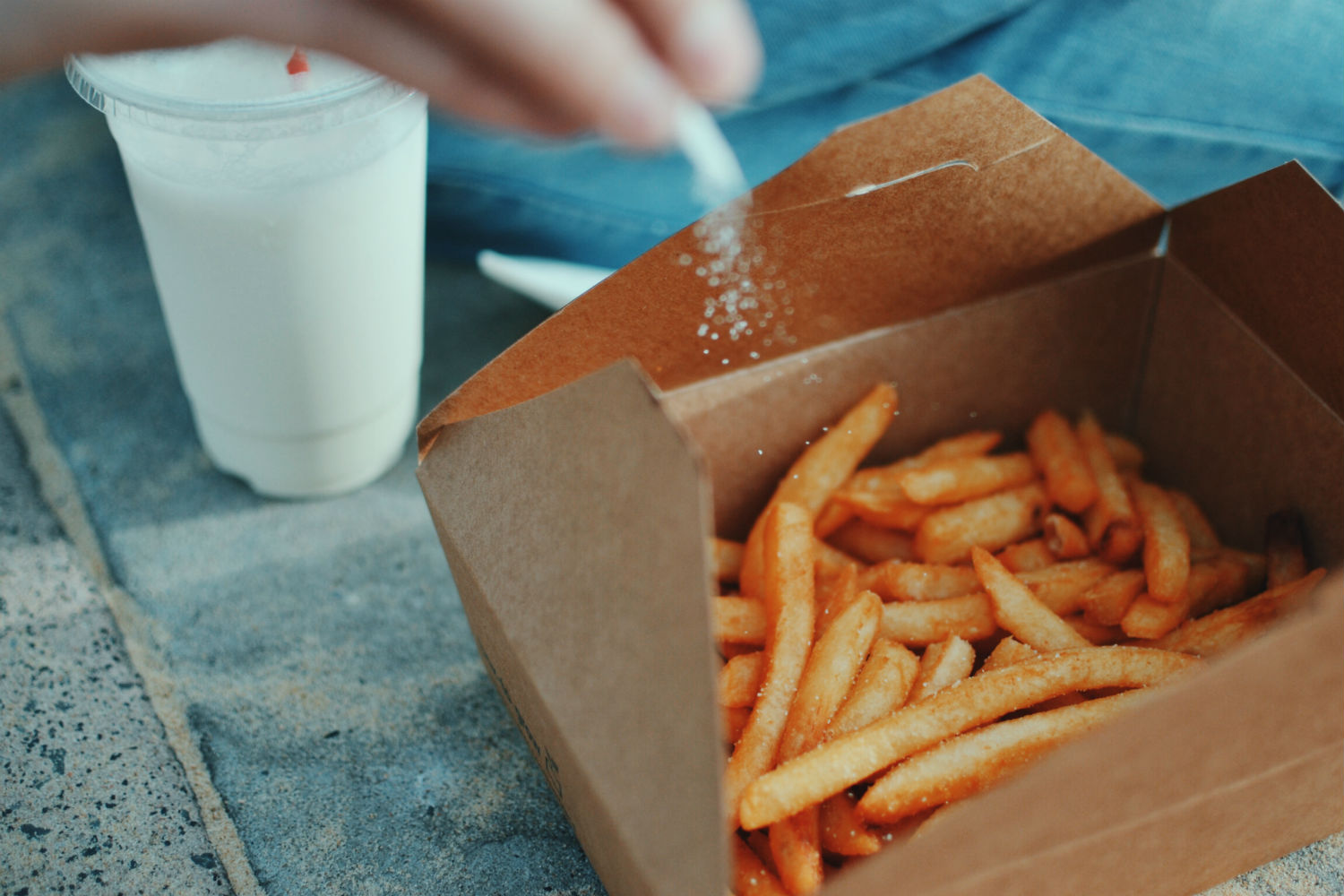 takeaway fries