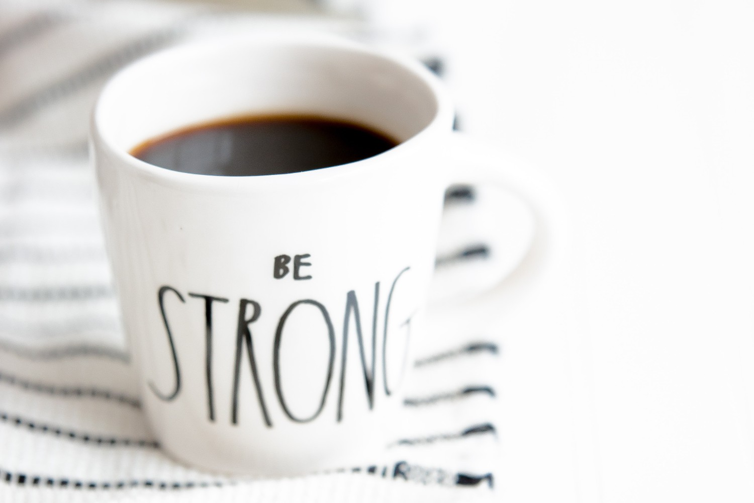 be strong coffee
