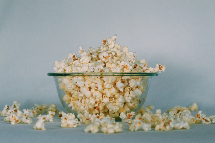 Popcorn in a bowl Netflix streaming services brand