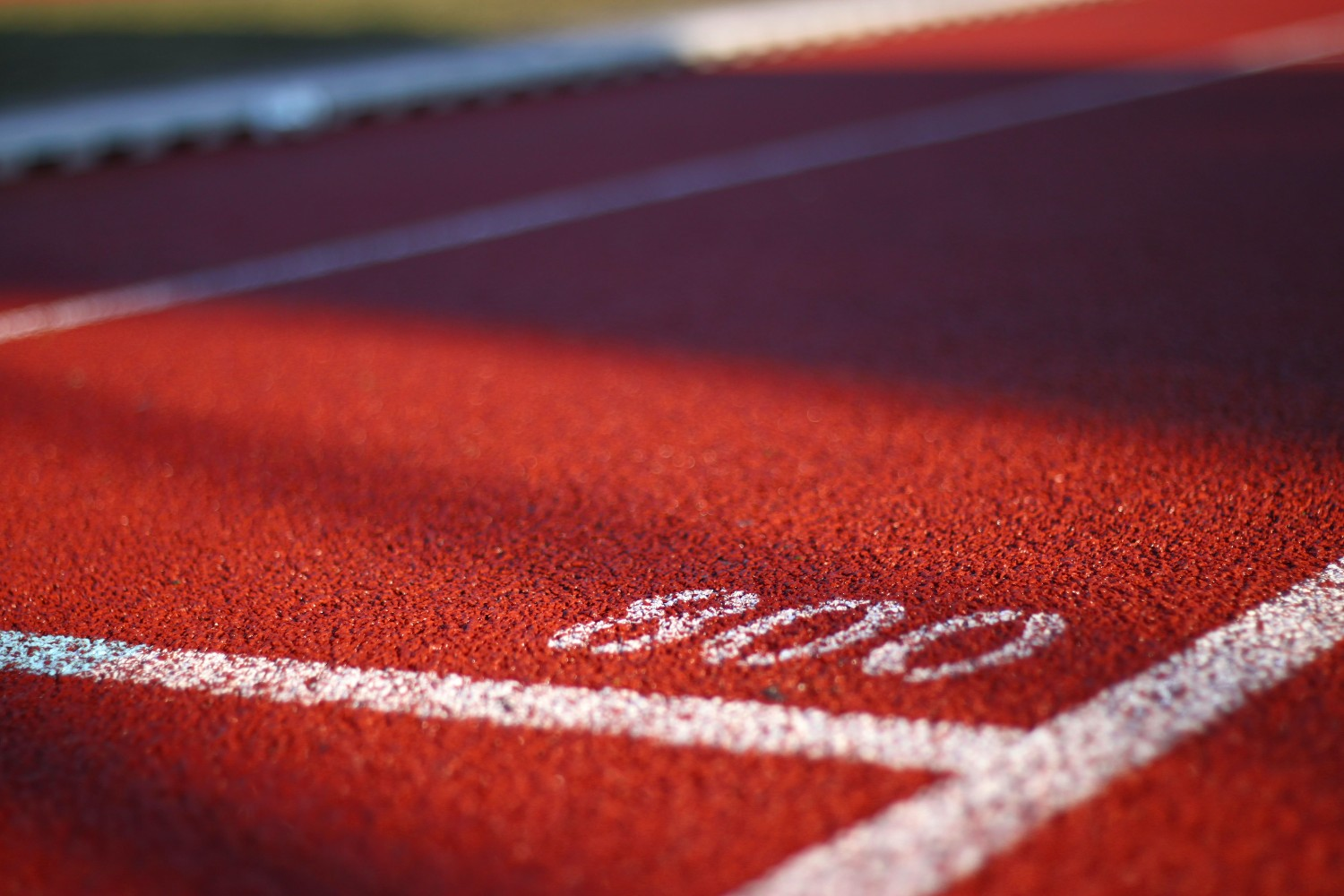 800 metre mark on a running track